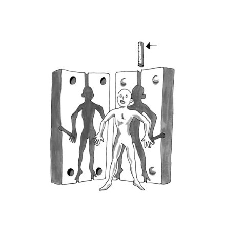 Animerad figur i mjukt polyskum